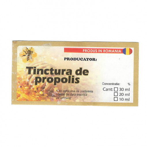 ETICHETA TINCTURA DE PROPOLIS