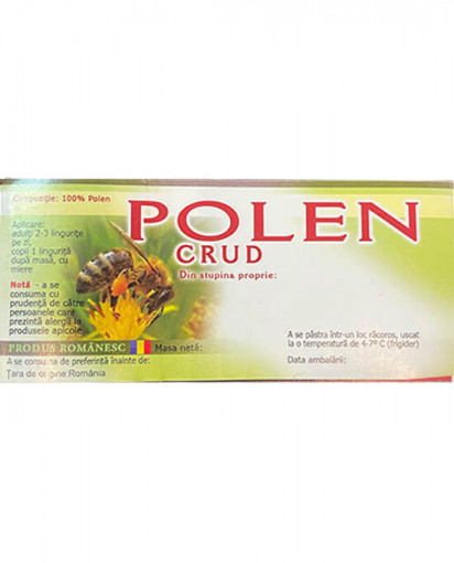 eticheta miere polen crud