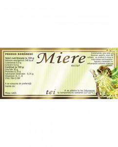 Etichete miere de Tei verde 154 x 60 mm