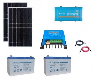 Kit fotovoltaic solar Off-Grid cu panou de 600w cu invertor 375VA