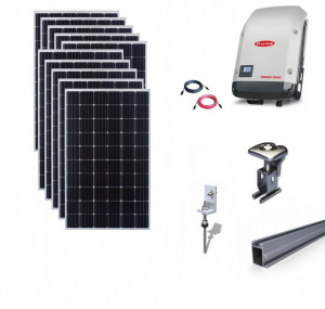 Kit On-Grid fotovoltaic solar cu panouri de 3kwp cu prindere pe tigla - Fronius