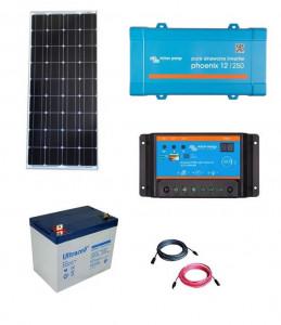 Kit fotovoltaic solar Off-Grid cu panou de 150w cu invertor 250VA