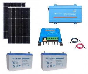 Kit fotovoltaic solar Off-Grid cu panou de 600w cu invertor 500VA