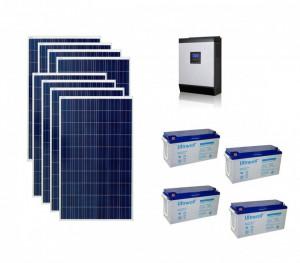 Kit Off-Grid fotovoltaic solar cu panouri de 2kw