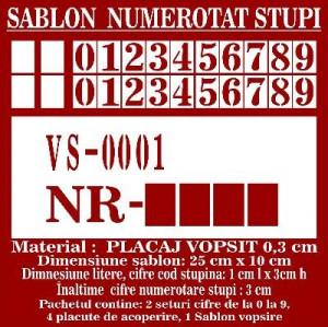Sablon pentru numerotat stupii