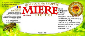 Eticheta miere de tei din stupina proprie 115mm x 50 mm
