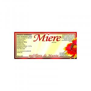 Eticheta miere Polifora de Munte115mm x 50 mm