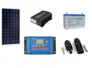 Kit fotovoltaic solar Off-Grid cu panou de 115w cu invertor 600w