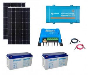Kit fotovoltaic solar Off-Grid cu panou de 600w cu invertor 800VA