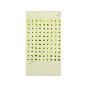 Cartela cu placute de opalit pentru marcat matcile - Galben