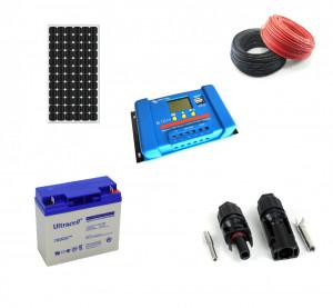 Kit fotovoltaic solar cu panou de 30w