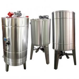 Bazin pentru miere 2000KG cu omogenizator, incalzire si capac