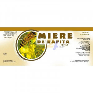 Eticheta borcan miere Rapita Nectar 154mm x 60mm