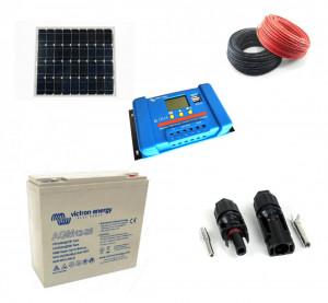 Kit fotovoltaic solar cu panou de 40w