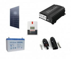 Kit fotovoltaic solar Off-Grid cu panou de 300w cu invertor 600w