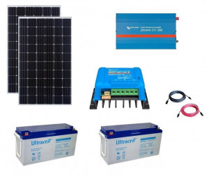 Kit fotovoltaic solar Off-Grid cu panou de 600w cu invertor 1200VA