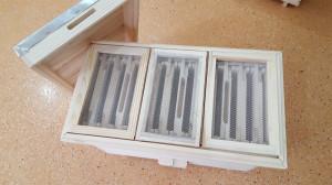 Nucleu din lemn imperechere matci cu 3 compartimente rama 3/4 rupta