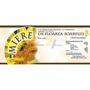 Eticheta miere de Floarea Soarelui Cristalizare 115mm x 50 mm