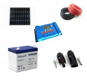 Kit fotovoltaic solar cu panou de 55w