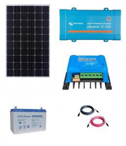 Kit fotovoltaic solar Off-Grid cu panou de 300w cu invertor 250VA