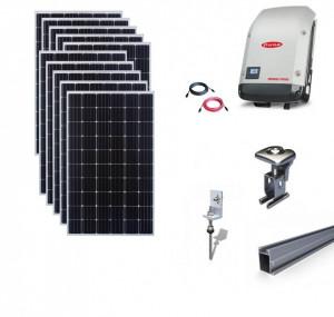 Kit On-Grid fotovoltaic solar cu panouri de 5kwp cu prindere tigla - Fronius