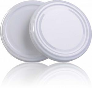 Capac pentru borcane de 106 si 120 de ml - ALB