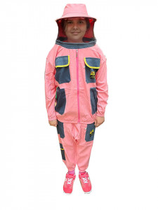 Combinezon apicol de copii din doua piese roz - Turcia