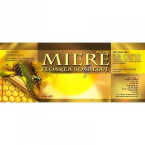 Eticheta borcan miere Floare Soarelui 154mm x 60mm