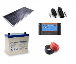 Kit fotovoltaic solar cu panou de 80w