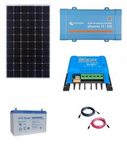 Kit fotovoltaic solar Off-Grid cu panou de 300w cu invertor 350VA