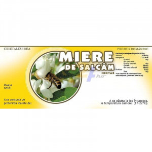 Eticheta borcan miere Salcam Nectar 115mm x 50mm