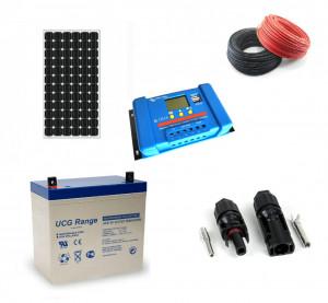 Kit fotovoltaic solar cu panou de 115w