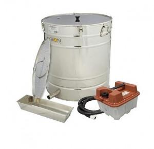 Topitor de ceara cu aburi inox 200L 600mm cu generator de aburi inclus Lyson