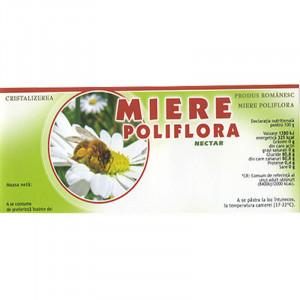 Eticheta borcan miere Poliflora Nectar 154mm x 60mm