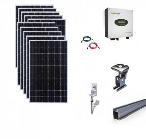 Kit On-Grid fotovoltaic solar cu panouri de 3kwp cu prindere tigla - Growatt