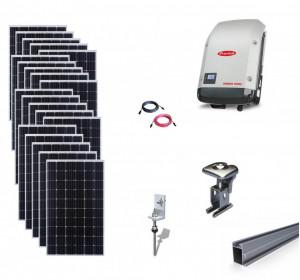 Kit On-Grid fotovoltaic solar cu panouri de 6kwp cu prindere pe tigla- Fronius