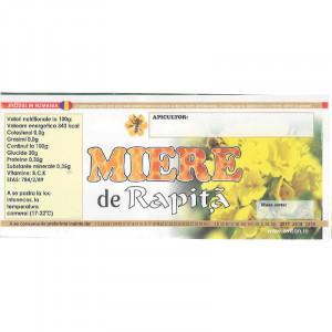 Eticheta borcan miere de Rapita 120 mm x 50 mm