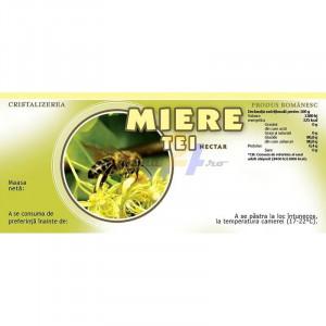 Eticheta borcan miere Tei Nectar 154mm x 60mm