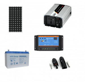 Kit fotovoltaic solar Off-Grid cu panou de 175w cu invertor 300w