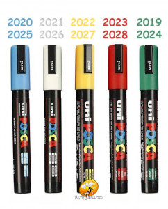 Marker albastru pentru marcat matcile anul 2020