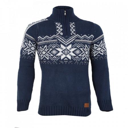 Bluză Aneris Lemis Albastră - Bluza este cel mai versatil articol vestimentar din sezonul rece, o piesă cu reputaţie a stilului casual având compoziţia 50% lână 50% acrilic - Deppo.ro