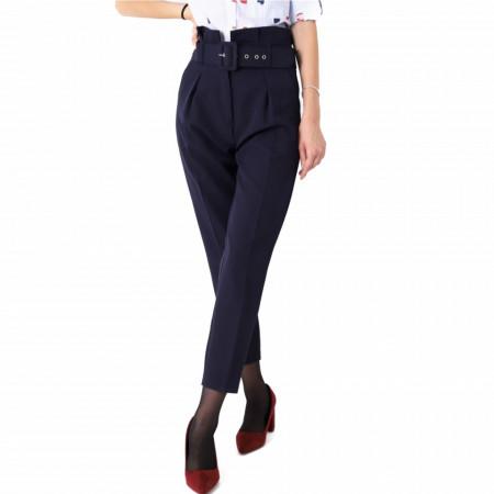 Pantaloni de stofă Berna - Pantaloni stofă eleganți de damă. Compoziție: 75% polyester, 22% viscon, 4% lycra - Deppo.ro