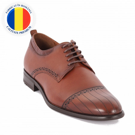 Pantofi din piele naturală Alvin Maro - Pantofi din piele naturală, model simplu, finisaje îngrijite cu undesign deosebit prin vârful perforat - Deppo.ro