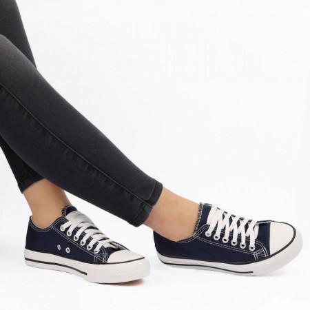 Pantofi Sport pentru dame Cod TEN85 Blue - Pantofi sport pentru dame,din material textil Foarte ușori și comozi Închidere prin siret. - Deppo.ro
