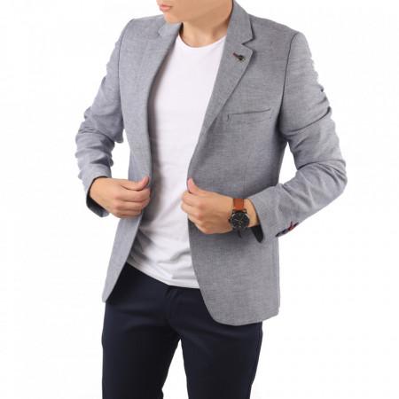Sacou CNR 55 - Ideal pentru o ținută casual de zi care poate fii purtat atât cu cămașă cât și cu helancă Compoziție: 85% bumbac, 15% polyester - Deppo.ro