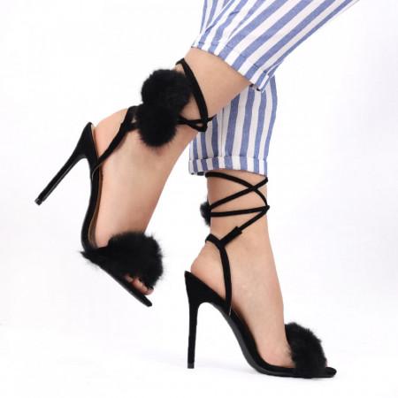 Sandale pentru dame cod JX-11 BLACK - Sandale pentru dama  Închidere prin șnur Calapod comod - Deppo.ro