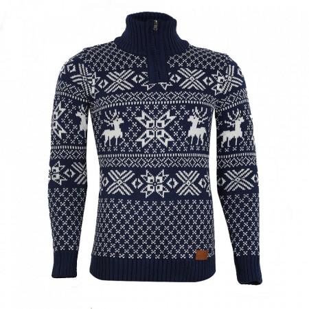 Bluză Aneris Remis Albastră - Bluza este cel mai versatil articol vestimentar din sezonul rece, o piesă cu reputaţie a stilului casual având compoziţia 50% lână 50% acrilic - Deppo.ro