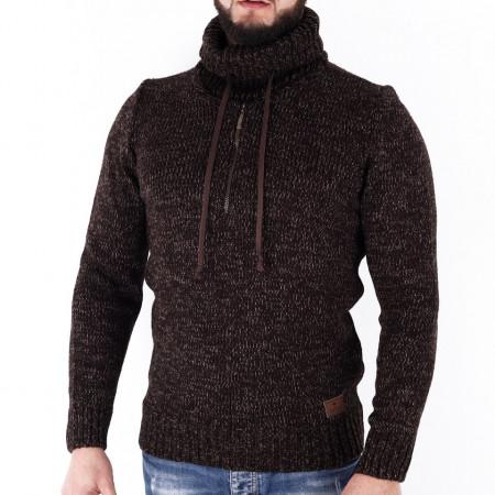 Bluză Blake Brown - Bluza groasă perfectă pentru sezonul rece, o piesă cu reputaţie a stilului casual având compoziţia 70% material acrilic şi 30% lână - Deppo.ro