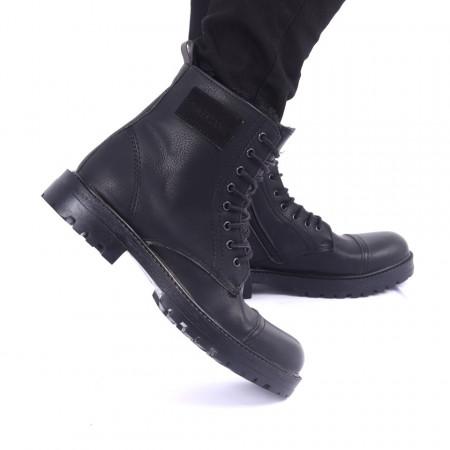 Ghete pentru bărbați cod 49351 Negre - Produs din piele ecologică cu închidere cu șiret și fermoar - Deppo.ro