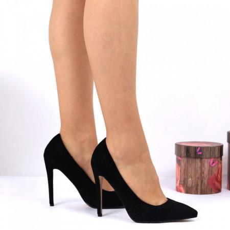 Pantofi cu toc Black Cod 7548 - Pantofi pentru dame din piele ecologică întoarsă Conferă lejeritate și eleganță - Deppo.ro